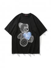 Cute Bear Printed Couple T Shirt