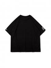 Euro Letter Printing Short Sleeve Couple T Shirt