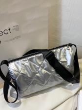 RhombusPlaid Cross Shoulder Bag Casual