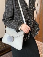 Simple Solid Designer Shoulder Bags