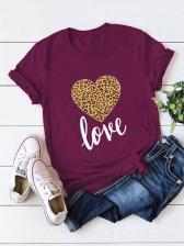 Summer Print Short Sleeve T Shirt