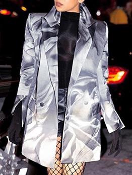 Casual Gradient Color Long Sleeve Ladies Blazer