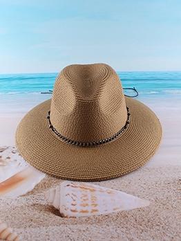 Latest Beach Straw Fedora Hat Women