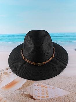Versatile Vintage Jazz Summer Beach Straw Cap