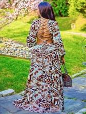 Seductive Backless Deep V Maxi Dresses