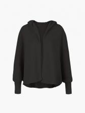 Autumn Bat Sleeve Hooded Collar Cardigan Coat