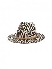 Latest Zebra-Stripe Versatile Winter Fedora Hat