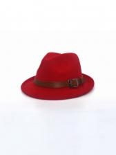 Vintage Plain Chic Fedora Hat British Style