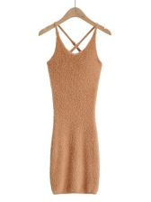 New Backless Solid Camisole Dress Summer
