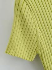 V Neck Stringy Selvedge Knitting Tee