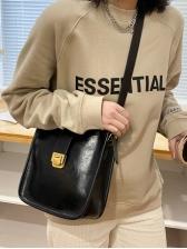 Vintage Solid Cross Shoulder Bag Women