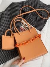 Fashion Solid Ladies Shoulder Bag