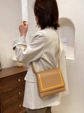 Vintage Contrast Color Designer Shoulder Bags