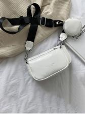 Street Solid Letter Designer Shoulder Bags
