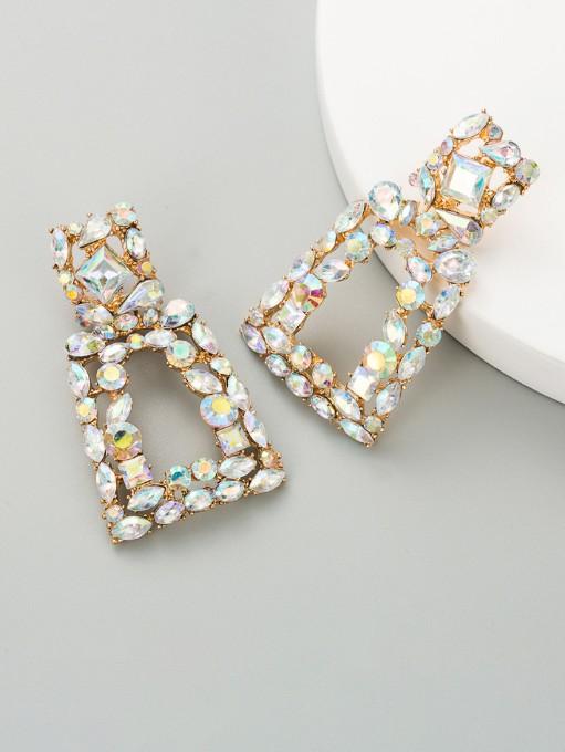 Geometry Creative Rhinestone Cool Women Earrings
