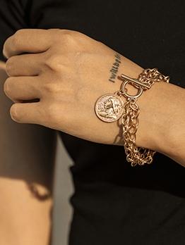Vintage Hip Hop Fashion Women Bracelet