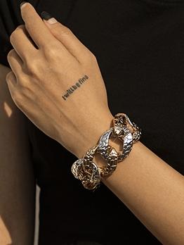 Contrast Color Design Women Thick Bracelet