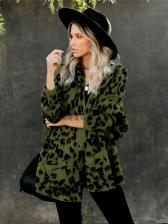 V Neck Leopard Print Knitted Cardigan
