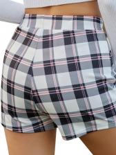 Fashion Checkered Women Skirt Pants