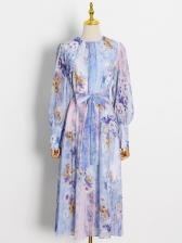 New Arrival Lantern Sleeve Vogue Midi Dress