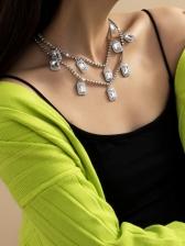 Full Rhinestone Hip Hop Layered Necklace