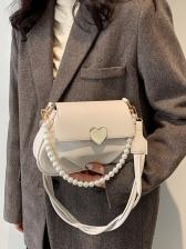 Winter Heart Faux Pearl Shoulder Bags