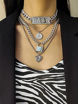 Multilayer Element Fashion Pendant Necklace Sets