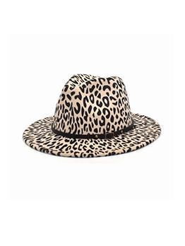Leopard Latest Style Wide Brim Fedora Hat