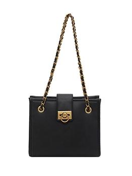 Minimalist Pure Color Chain Shoulder Bag