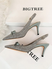 Pointed Toe Bow Pointed Toe High Heels