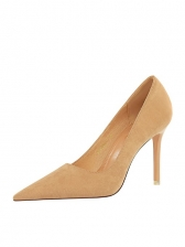 Fashion Suede Pointed Toe High Heels