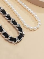 Stylish Vintage Faux-Pearl Women Necklace