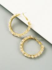 Temperament Rhinestone Trendy Earrings Ladies