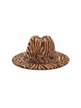 Outdoor Warm Zebra Striped Autumn Fedora Hat