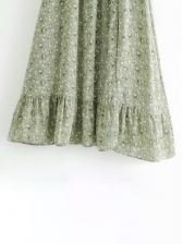 Vintage Spring Floral Short Sleeve Dress