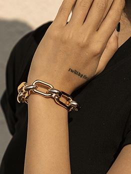 Punk Hip Hop Stylish Thick Bracelet