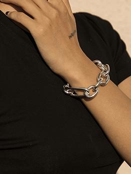 Simple Punk Thick Geometry Bracelet