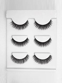 3 Pieces Pack False Eyelashes Women
