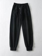 Pockets Drawstring High Waist Jogger Pants