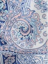 Square Neck Paisley Print Crop Blouse Vintage