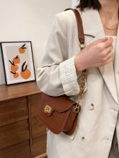 Vintage Style Solid Stone Grain Shoulder Bags