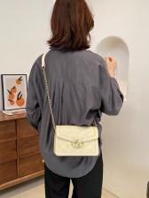 Chic Rhombic Pattern Crossbody Chain Shoulder Bag