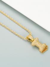 Hip Hop English Letter Zircon Necklace