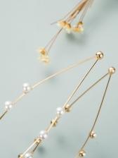 Sweet Plain Design Faux-Pearl Hair Hoop