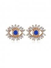 Rhinestone Devil\'s Eye Personality Stud Earrings
