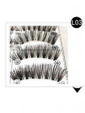 10 Pieces Pack False Eyelashes Fashion