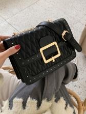 Vintage RhombusPlaid Ladies Shoulder Bag