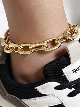 Geometry Fashion Women Thicken Anklets