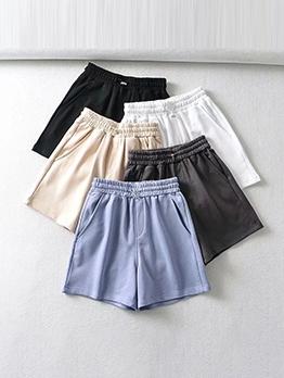 Summer New Solid Loose Short Pants
