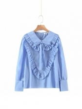 Stringy Selvedge Solid Blouses For Women